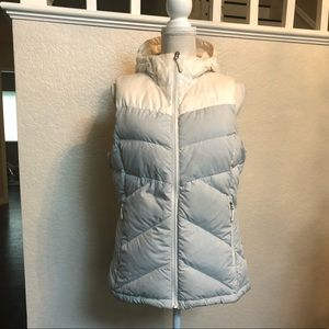 The North Face vest with hoodie